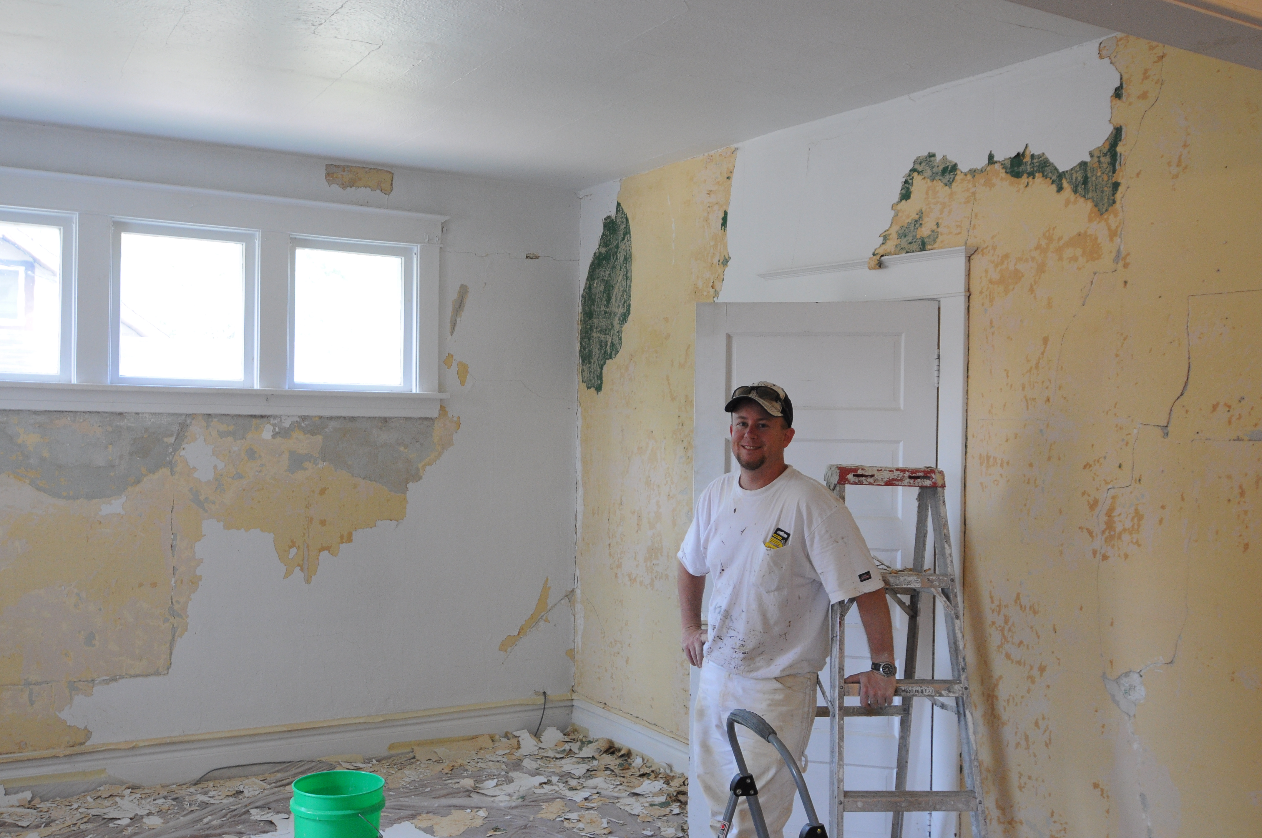 After Removing Wallpaper Cleaning Resurfacing Walls